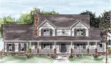 Country Farmhouse House Plan 68880 Elevation