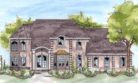 European House Plan 68881 Elevation