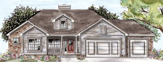 Traditional House Plan 68896 Elevation