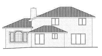 Mediterranean House Plan 68900 Rear Elevation