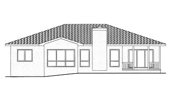 House Plan 68901 | Mediterranean Style Plan with 1895 Sq Ft, 3 Bedrooms, 2 Bathrooms, 2 Car Garage Rear Elevation