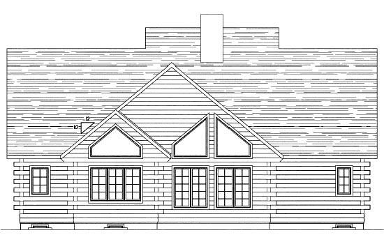 Log House Plan 68902 Rear Elevation