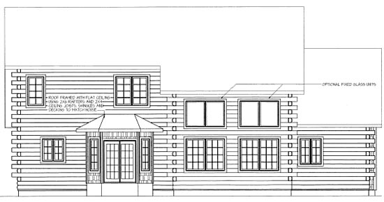 Log House Plan 68903 Rear Elevation