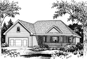House Plan 68906 | Country Style Plan with 1843 Sq Ft, 2 Bedrooms, 2 Bathrooms, 2 Car Garage Elevation