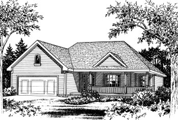 Country House Plan 68906 Elevation