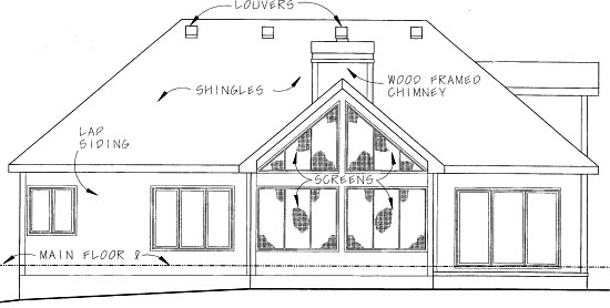 Country House Plan 68906 Rear Elevation
