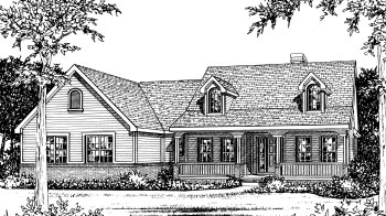 Country House Plan 68907 Elevation