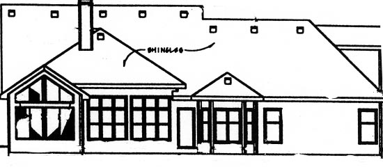 Country House Plan 68907 Rear Elevation