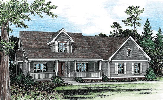 Country House Plan 68908 Elevation