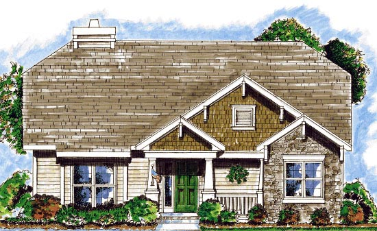 Craftsman House Plan 68913 Elevation