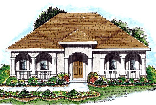 European Mediterranean House Plan 68915 Elevation