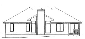 Traditional House Plan 68924 Rear Elevation