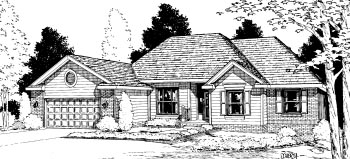Traditional House Plan 68931 Elevation