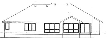 Traditional House Plan 68931 Rear Elevation