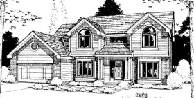 House Plan 68934 | Traditional Style Plan with 2492 Sq Ft, 4 Bedrooms, 3 Bathrooms, 2 Car Garage Elevation