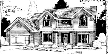 Traditional House Plan 68934 with 4 Beds, 3 Baths, 2 Car Garage Elevation