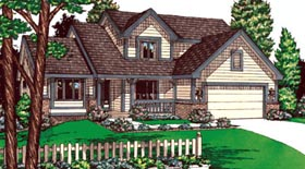 Country House Plan 68935 Elevation