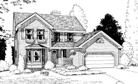 House Plan 68938 | Country Style Plan with 1753 Sq Ft, 3 Bedrooms, 3 Bathrooms, 2 Car Garage Elevation