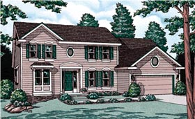 Colonial House Plan 68943 Elevation