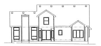 Colonial House Plan 68943 Rear Elevation