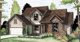 House Plan 68951 | Country Style Plan with 2409 Sq Ft, 4 Bed, 3 Bath, 2 Car Garage Elevation
