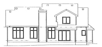 Country House Plan 68951 Rear Elevation