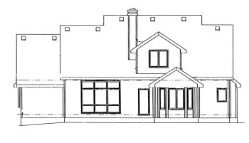 Country House Plan 68952 Rear Elevation