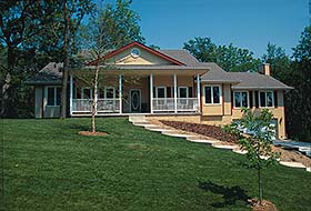 Country House Plan 68954 Elevation