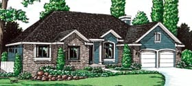 Traditional House Plan 68955 Elevation