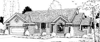 Ranch House Plan 68956 Elevation
