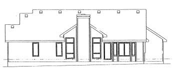 Ranch House Plan 68956 Rear Elevation