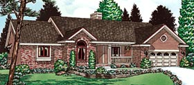 Ranch House Plan 68957 Elevation