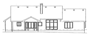 Ranch House Plan 68957 Rear Elevation