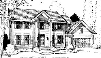 Colonial Elevation of Plan 68958
