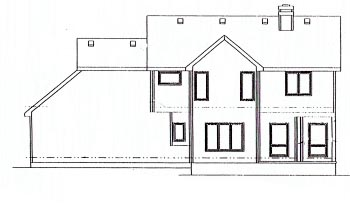 Colonial Rear Elevation of Plan 68958