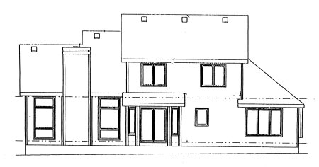Country House Plan 68965 Rear Elevation