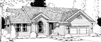 Ranch House Plan 68966 Elevation