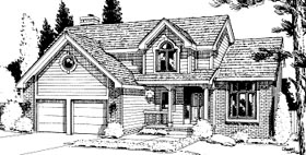 Country House Plan 68968 Elevation