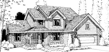 Country House Plan 68972 Elevation
