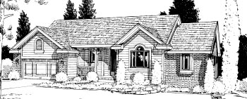 Traditional House Plan 68974 Elevation