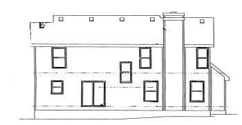 Country House Plan 68979 Rear Elevation