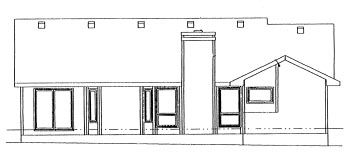 Ranch House Plan 68991 Rear Elevation