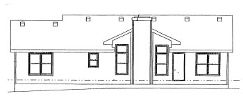 House Plan 68995 | Ranch Style Plan with 1295 Sq Ft, 3 Bedrooms, 2 Bathrooms, 2 Car Garage Rear Elevation