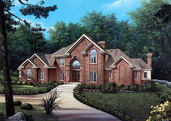 European House Plan 69001 Elevation