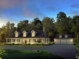 Country Farmhouse House Plan 69004 Elevation