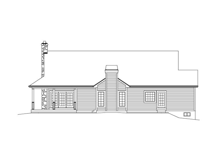 Country Farmhouse House Plan 69004 Rear Elevation
