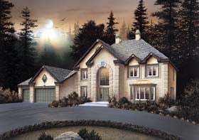 House Plan 69008 | European Style Plan with 3850 Sq Ft, 5 Bedrooms, 4 Bathrooms, 3 Car Garage Elevation