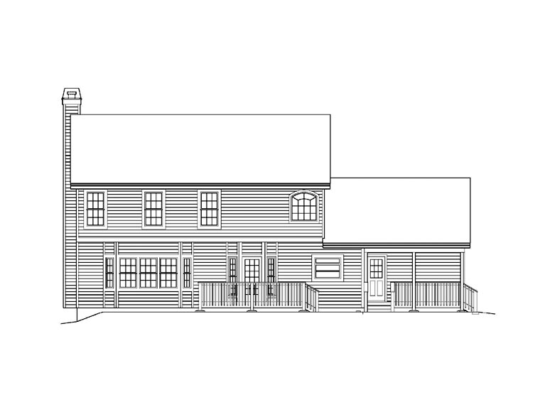 House Plan 69009 Rear Elevation