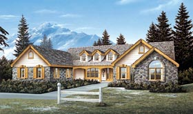 Cape Cod Country Ranch Traditional House Plan 69010 Elevation