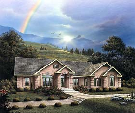 Traditional House Plan 69011 with 3 Beds, 3 Baths, 3 Car Garage Elevation